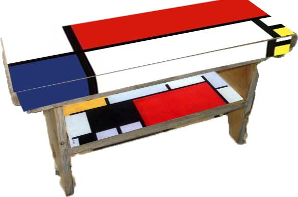 piet mondrian bench